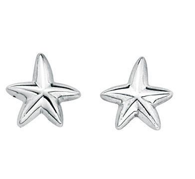 Oxidised Starfish Earrings