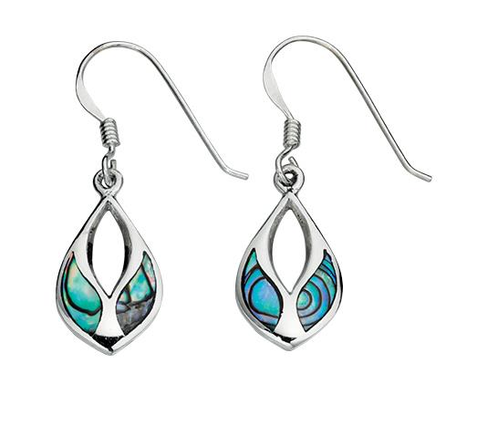Paua Shell Inlay Drop Earrings