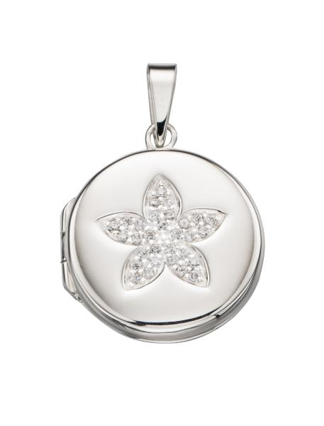 Pave Flower Locket
