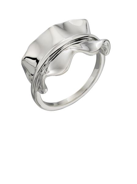 Plain Silver Ruffle Ring