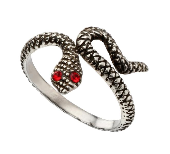 Red Eyed Snake Toe Ring