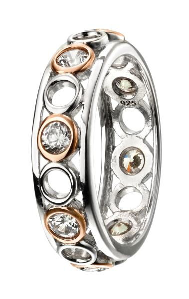 Repeat Circle Ring With Rose Gold & CZ