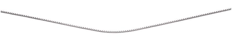 Rhodium Plated Box Chain