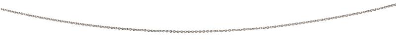 Rhodium Plated 56+5Cm Curb Chain