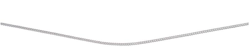 Rhodium Plated Close Curb Chain With Extender 46+5Cm