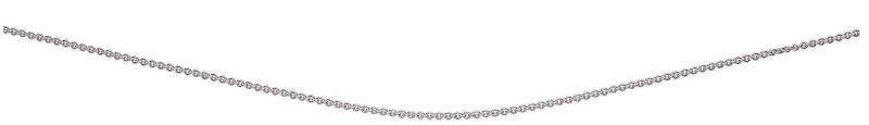 Trace Chain With Extender With Rhodium Plate