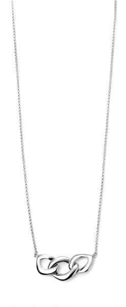Rhodium Plated Treble Link Necklace
