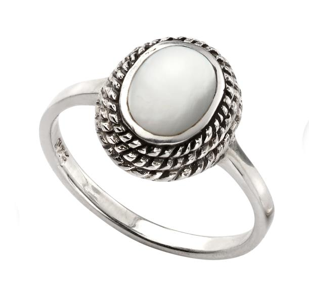Rope Mother Of Pearl Ring