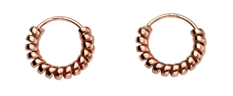 Rose Coil Hoop Earrings