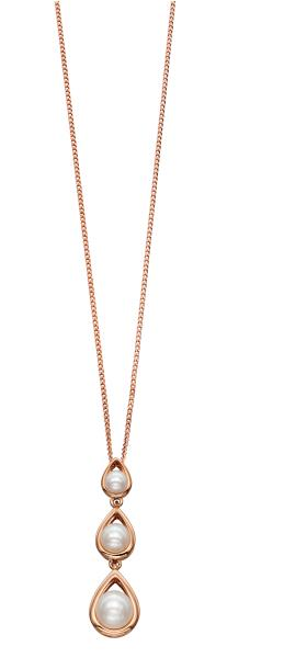 Rose Gold 3 Pearl Drop Pendant