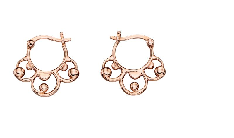 Rose Gold Baroque Creole Hoop Earrings
