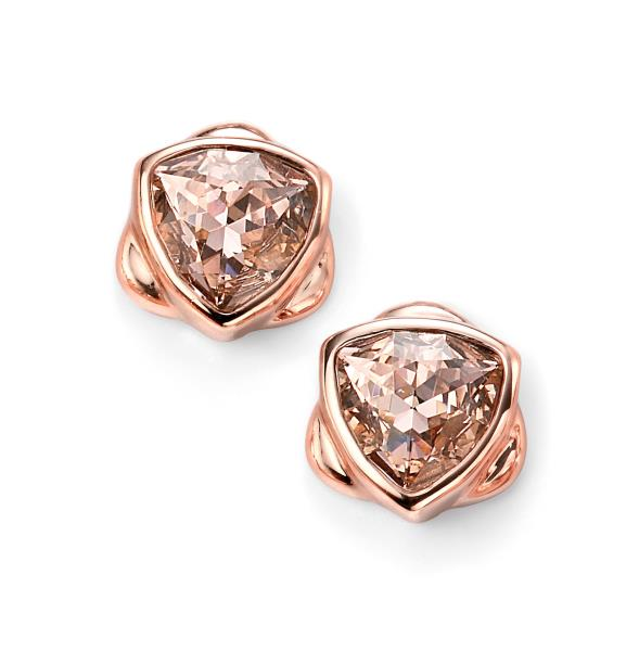 Rose Gold Plated Vintage Rose Swarovski Crystal Stud Earrings