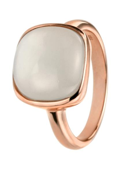 Rose Gold Ring With Cabochon Moonstone
