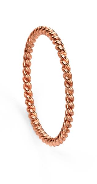 Rose Gold Plated Rope Effect Ring