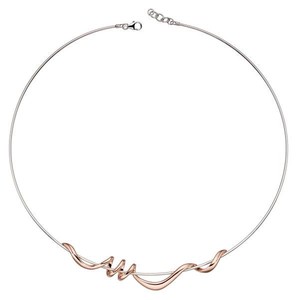 Rose Gold Plated Twist Necklace