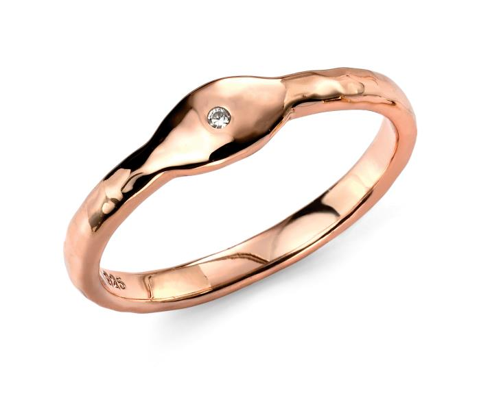Rose Gold CZ Plated Stacking Ring