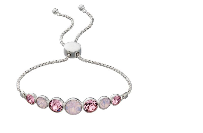 Rose Water Opal & Light Pink Adjustable Bracelet