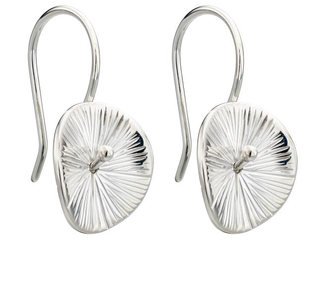 Scratch Finish Disc Earrings