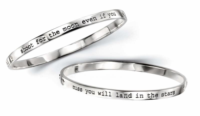 """Shoot For The Moon"" Bangle"
