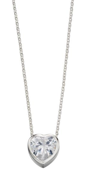 10Mm CZ Heart Necklace