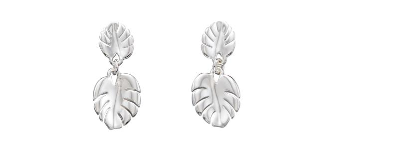 Silver Cheese Plant Drop Earrings