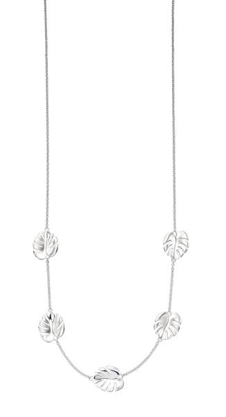 Silver Cheese Plant Necklace