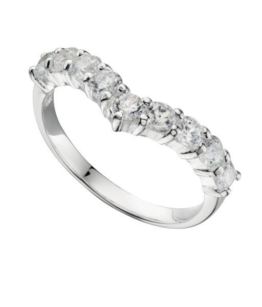 Sterling Silver Cubic Zirconia Wedding Rings Sets 73 Fresh Silver Cubic Zirconia Wishbone