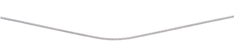 Curb Chain With Extender With Rhodium Plate