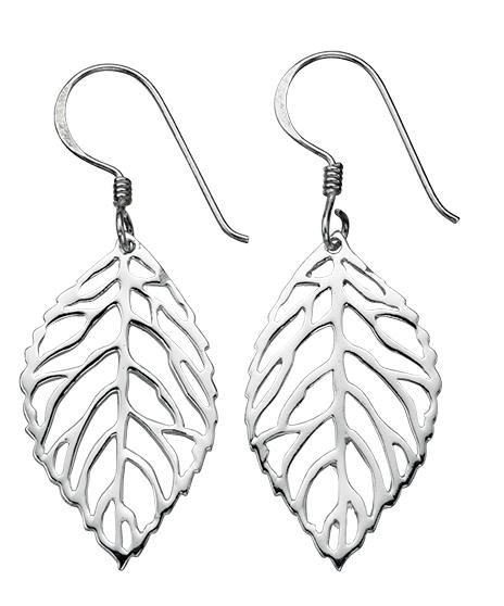 Cut Out Leaf Drop Earrings