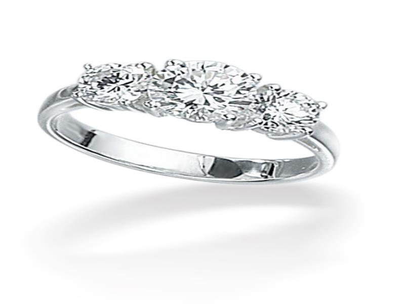 Size 12 Wedding Rings 2 Amazing Silver Cz Stone Trilogy