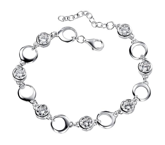 Clear CZ Open Circles Bracelet
