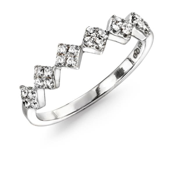 Clear CZ Diamond Shaped Ring