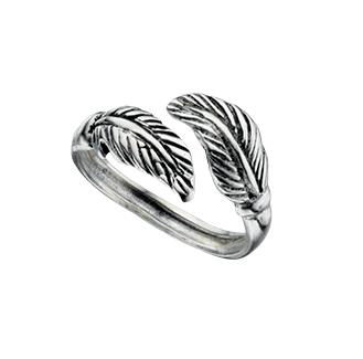 Double Leaf Oxidised Toe Ring