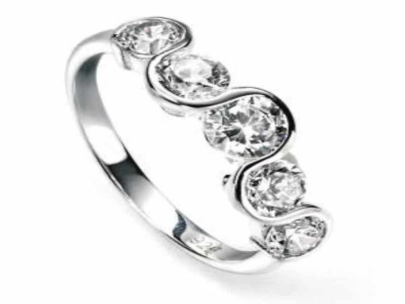 Silver Eternity Ring Size K