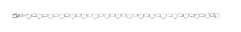 Linked Heart Ankle Chain