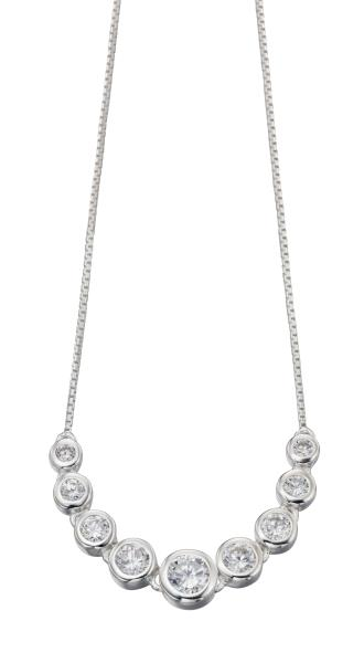 Multi Round Cz Necklace