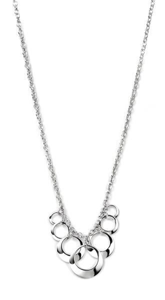 Open Disc Cluster 41+5Cm Necklace
