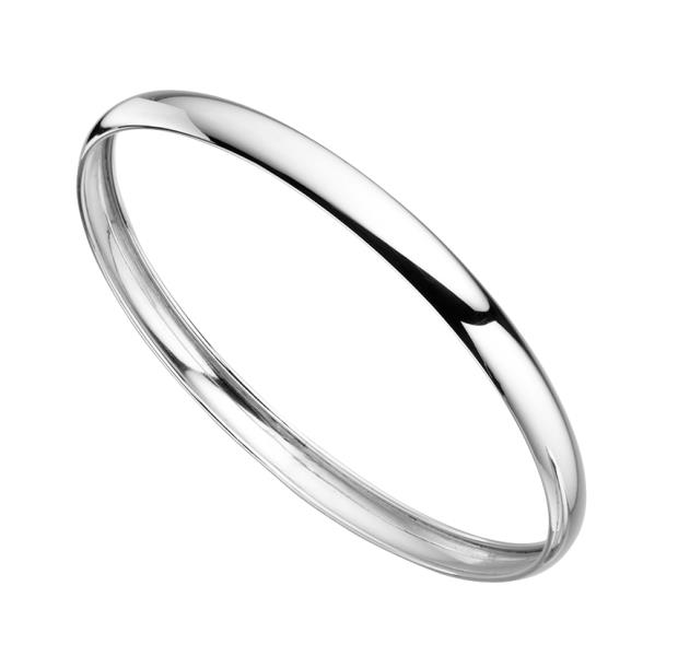 Silver Slave Bangle 6mm 925 Sterling Bracelet