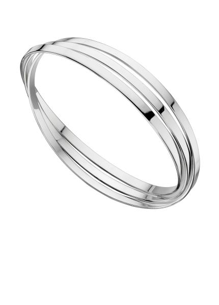 Triple Russian Wedding Bangle - Flat Bands