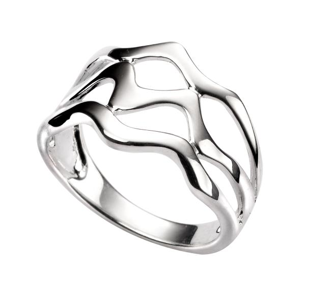 Silver Triple Wave Ring