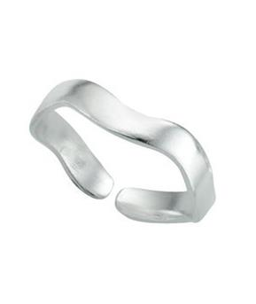 Wavy Band Toe Ring