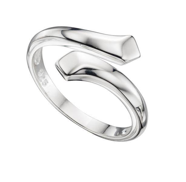 Silver Wrap Over Ring