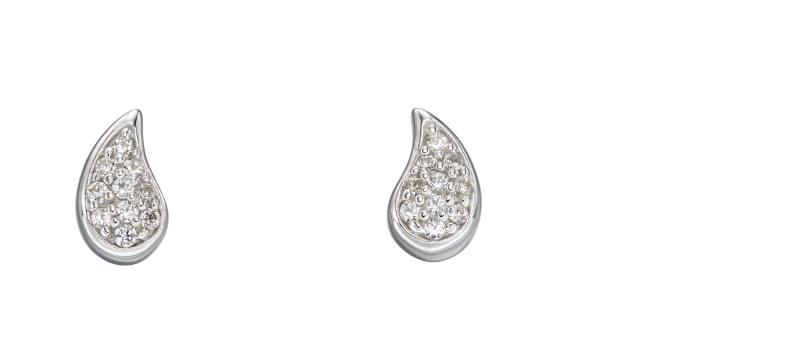Single Teardrop Pave Studs