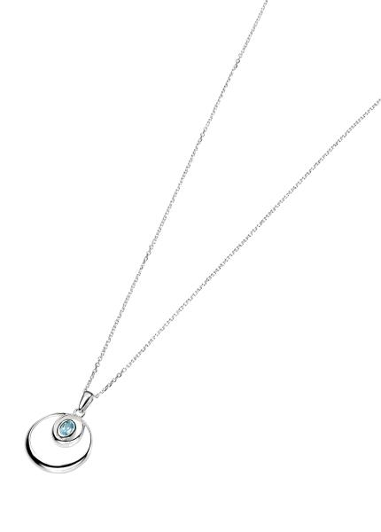 Sky Blue Topaz Double Loop Pendant