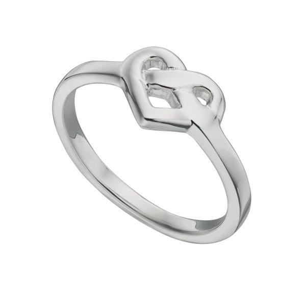 Small Silver Celtic Heart Ring
