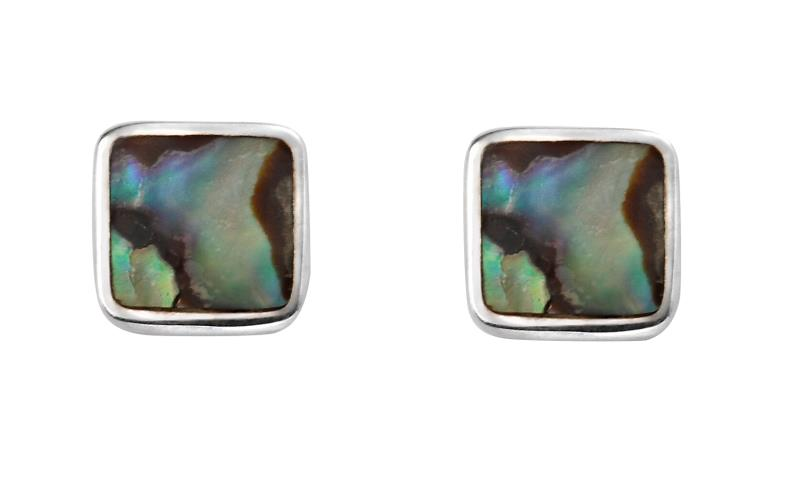 Square Abalone Shell Studs