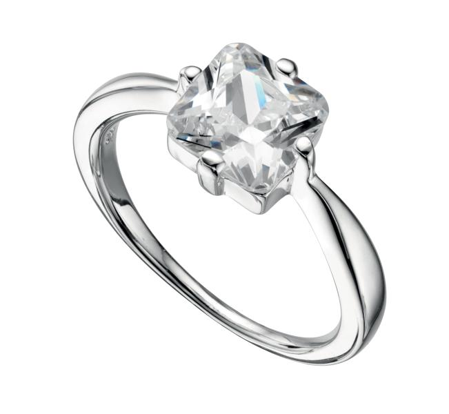 Clear CZ Square Ring