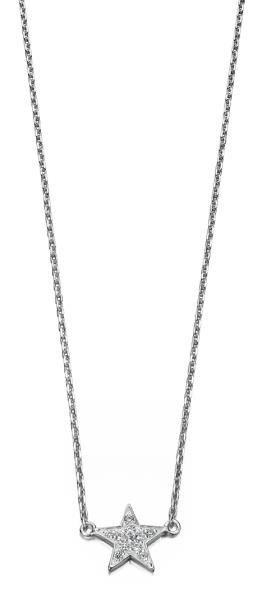 Clear CZ Star 41+3Cm Necklace