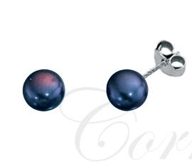 Sterling Silver Peacock Pearl Stud Earrings 4mm