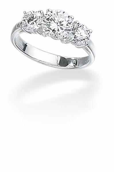 Clear CZ 3X Round Set Ring